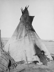 250px-Oglala_girl_in_front_of_a_tipi2 wikipedia