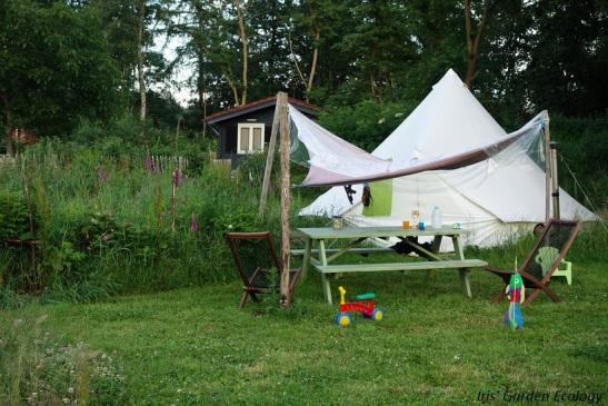 landgoedcamping buiten tent